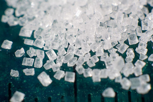 Sugar crystals in a macro photo