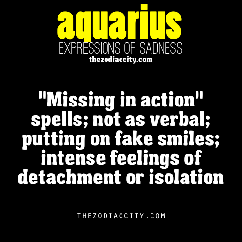zodiaccity:  Zodiac Expressions of Sadness: Aquarius (reworded)