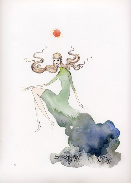 eatsleepdraw:  Watercolor and ink by draw Gabby draw!