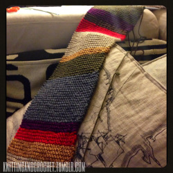knittingandcrochet:  calypsoscraftworks:  knittingandcrochet:  Some more progress on my scarf!  I'm working on one too! Well, mine is crocheted. I've got about 10 inches left, plus fringe. I'll post my own pictures when I'm finished!  Awesome! I look forward to seeing yours!