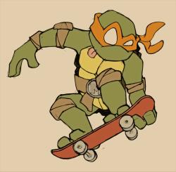 drawing art cartoon Moleskine skateboard teenage mutant ninja turtles ninja turtles Michelangelo sketchy ninja Bad drawings not actually moleskine abileneelephants