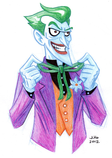 thecomicartblog:  Bruce Timm style Joker by Adventure time cover and Simpsons comic artist Jason Ho.