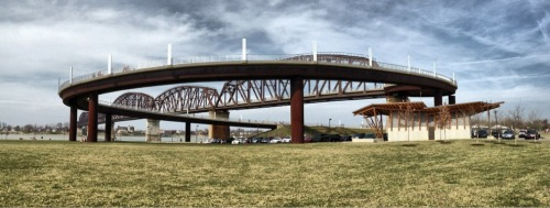 Ramp to the Big 4 Bridge in Louisville Kentucky