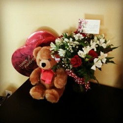 He may not be home on valentines day he still made it perfect and the best day :)) thank you the love of my life <3 #myman #loveyousomuch #bestvalentinesday