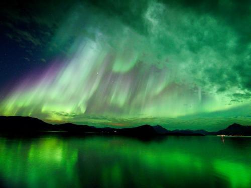 Hugo Løhre photographed the aurora borealis over Lekangsund, Norway, on Oct. 10, 2012. (via: Solar Dynamics Observatory)