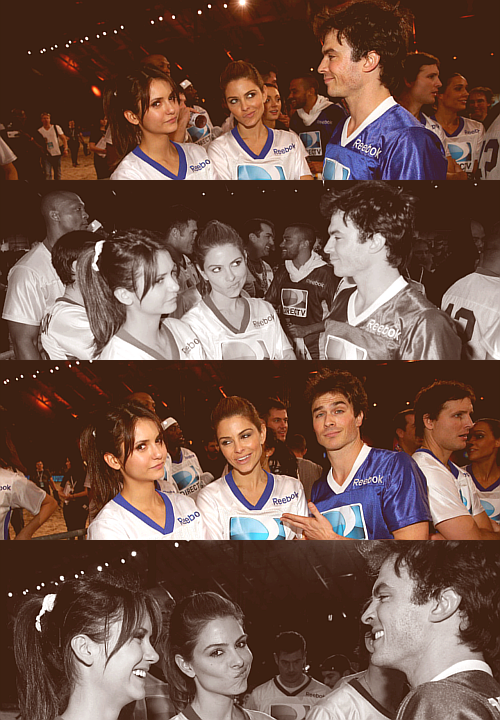 Nina Dobrev, Maria Menounos, and Ian Somerhalder - Celebrity Beach Bowl [2013]