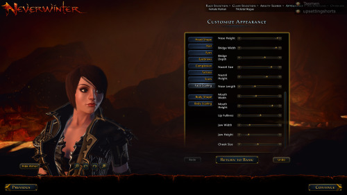 "Mostly successful! No full goatee in the Neverwinter character creator, and the scar/hair part is on the opposite side with the other.  Apart from that… well, this has been your ""the Neverwinter CC is solid"" post."