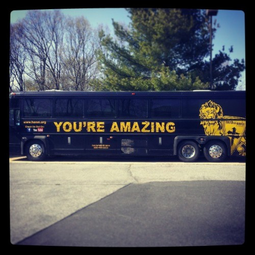 Can any human being not smile when seeing Justin Fatica's tour bus?