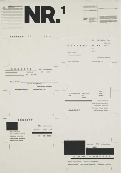 damiensaatdjian:  Wolfgang WeingartTypographic Process, Nr 1. Organized Text Structures, 1974Lithograph. Printer: G. Gissler Basle.Museum of Modern Art, New York