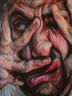 eclectixgurl:  Nikos Gyftakis creates portraits that are swirly masses of colorful dizzying goodness.  -http://eclectix.com/blog/2013/04/22/nikos-gyftakis/