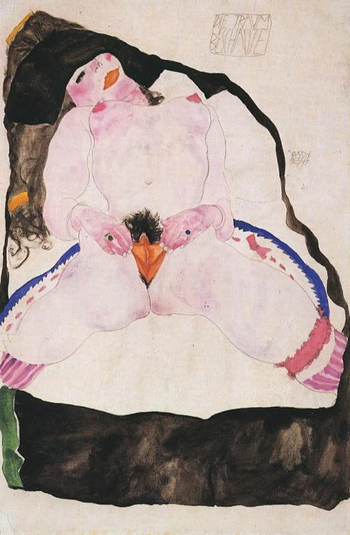 melteddali:  Egon Schiele - Observed in a Dream