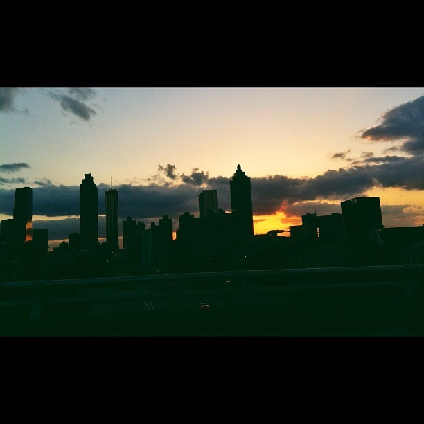 ATL sunset #downtown #skyline #atlanta #sunset