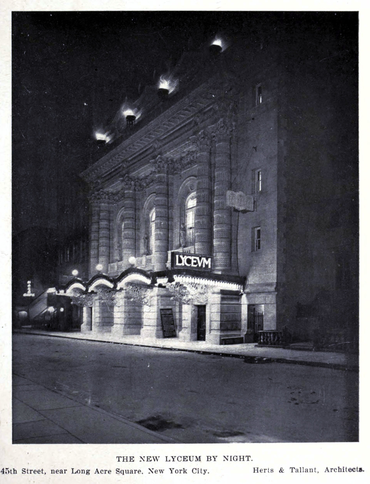 The Lyceum Theatre, New York City