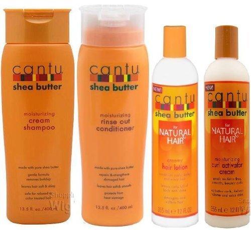 Cantu Shea Butter Set Shampoo Conditioner Hair Lotion