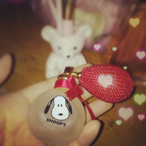 New bottle love #vintage #perfume #snoopy