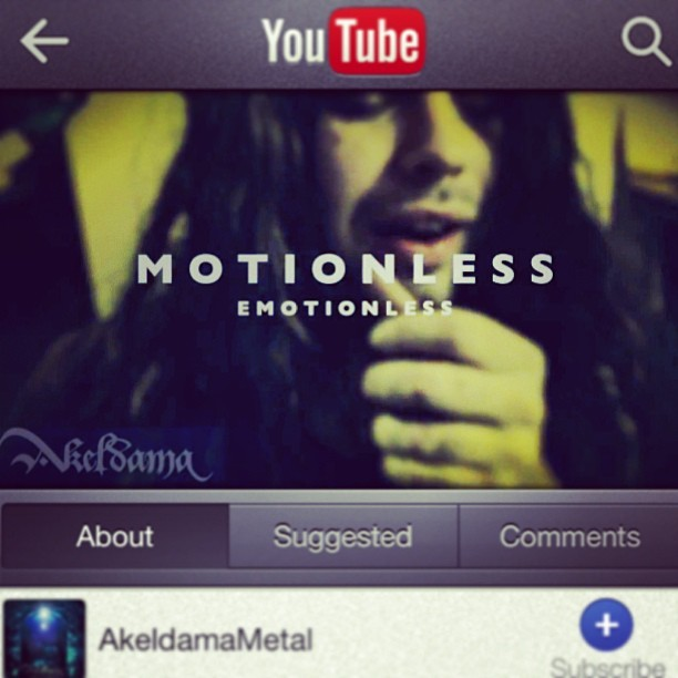 "If you haven't seen it, you can find our music video for ""Motionless Emotionless"" on the YouTubessssssss! Check it out ;]"