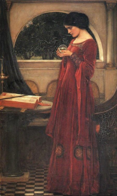 windypoplarsroom: 1902 John William Waterhouse (British; 1849-1917) ~ The Crystal Ball
