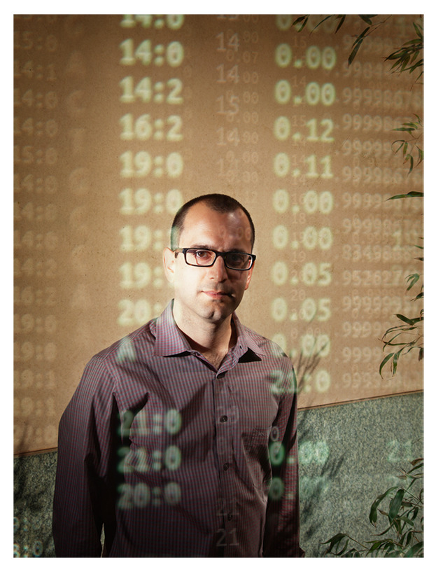 My photo of computational biologist Yaniv Erlich shot for & published in this week's Nature International Journal of Science.