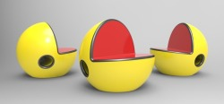 'Arts-4-Geeks' of the day!  Pac Seat  Pac-Man inspired chair design concept by Bruno Marques.
