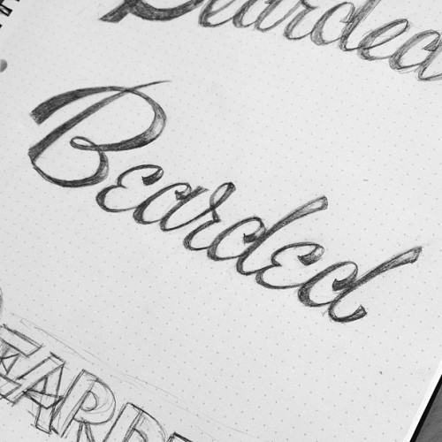 A lettering sketch from this morning