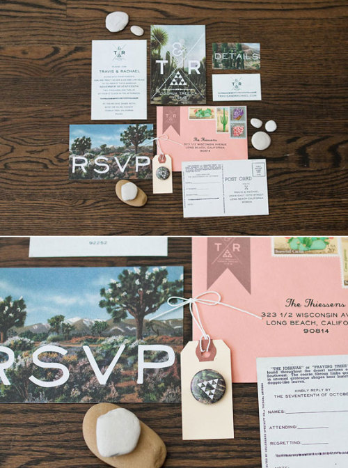 With Or Without You Loving this Joshua Tree wedding invitation. MIE likes.  via