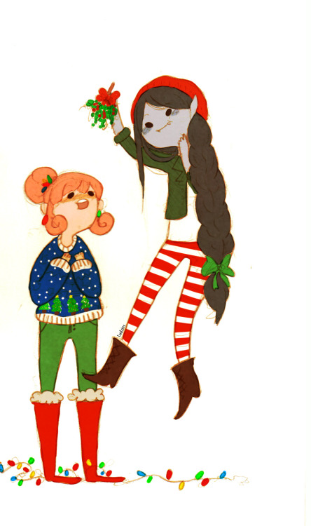 Mistletoe and Christmas outfits!