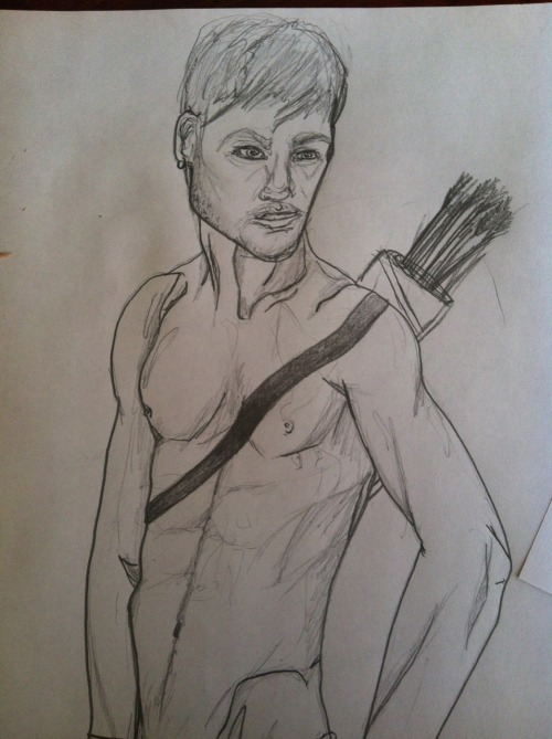 My like….10 minute sketch of Daryl from the walking dead. Don't even think of judging me!