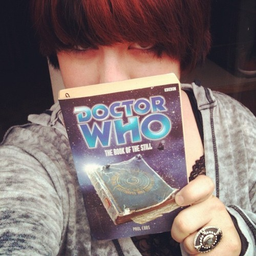 thestarcrosseddoctor:  I shall be spending my afternoon with the mad man with a box. #doctorwho #thebookofthestill #paulebbs #reading