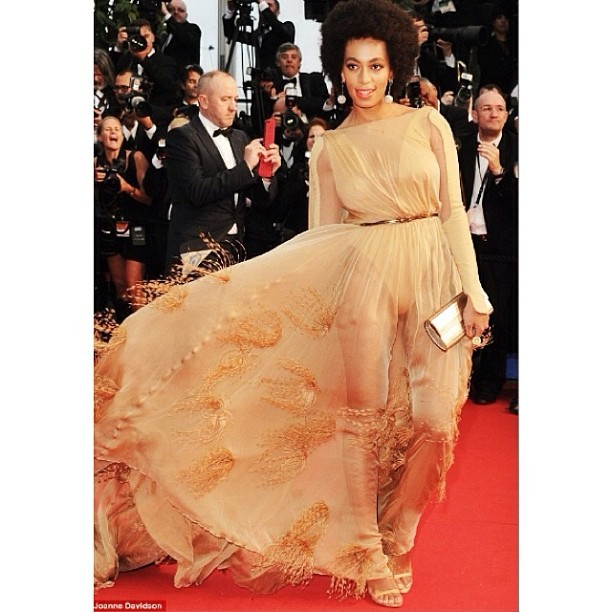 Pppsshhh Solange. Seriously. #Cannes styled by #RandM in Stephane Rolland 💋