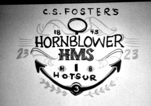 Since the beginning of my Hornblower obsession I've wanted to design a shirt. And always wanted it to be a typography piece. I adore typography but I have have no idea how to draw it. So I'm winging it and hours later of making horrible monstrosities I got this sketch. Maybe not the winner but certainly a contender.