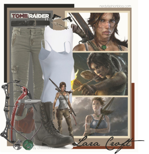 oatsandyoga:   Lara Croft | Tomb Raider - Reborn by chelsealauren10   Hello I want this outfit. /lovetheboots  Adventure clothing in general is amazing.
