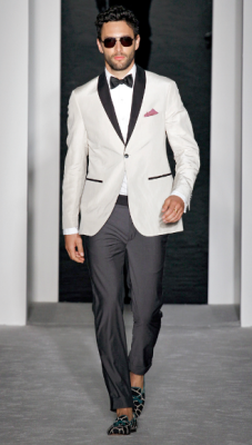 Impeccable tux with a summer twist. Michael Bastian, Spring/Summer 2013.