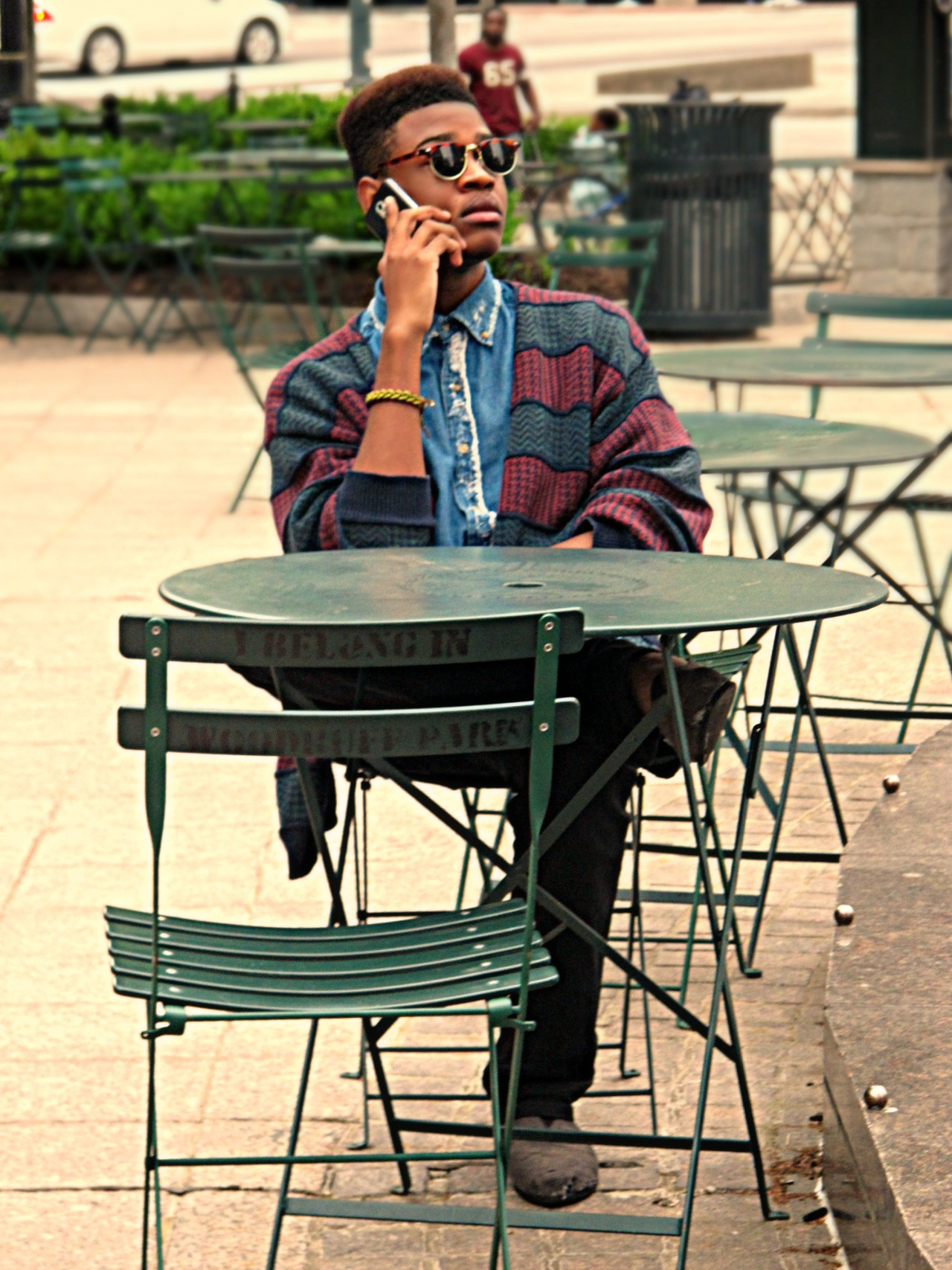 blackfashion:  Shaquille, 18, ATL Glasses: Ray Ban, Sweater: Thrifted, Distressed Denim shirt: by Me, Pants: Levis, Shoes: Toms LiftedElegance.tumblr.com