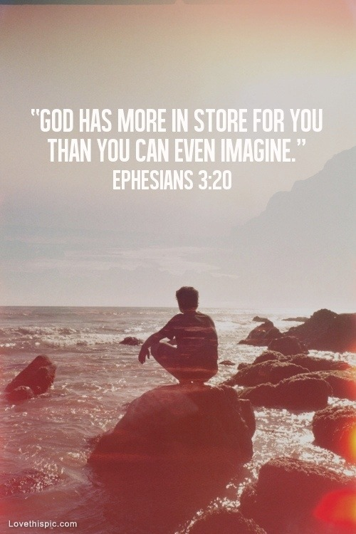 waterbaby79:  God has more in store for you