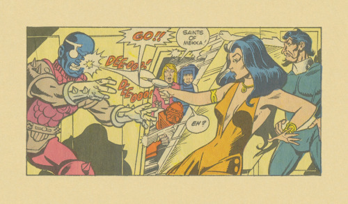 ISOLATED COMIC BOOK PANEL #272title: MANTECH #4- P11:1artists: DICK AYERS, CHIC STONE year: 1984