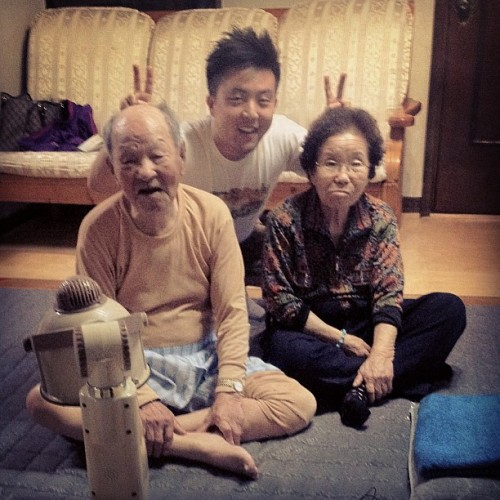 With grandparents <3 Don't think grandma approves of the ears lol…oh I'll miss them