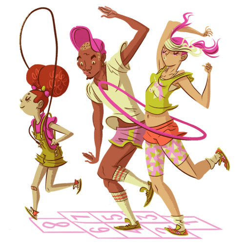 One of 3 spot illustrations about themed running events for Wired.