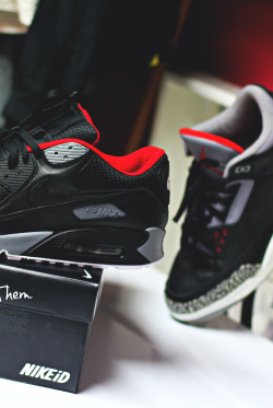 Air Max 90 x Air Jordan III // NeverWearThem