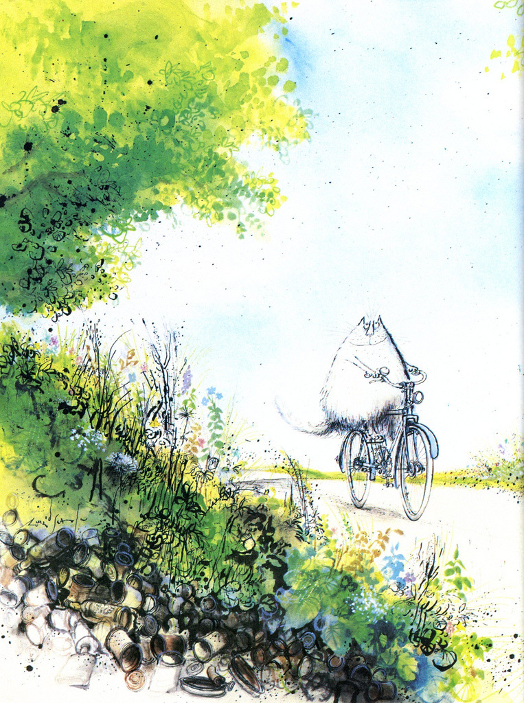 Illustration by Ronald Searle  Via Queenie and the Dew