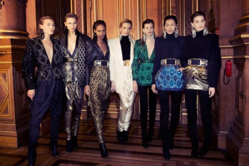 models-on-the-runway:  balmain f/w 2013