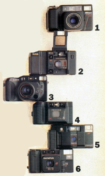 Point-and-shoot cameras, 1987.