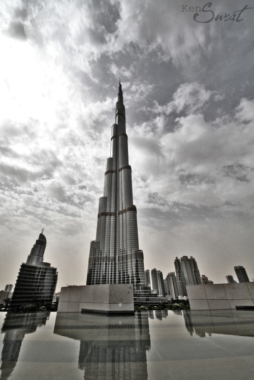 Burj Khalifa 24042013.  Early morning site visit and this beauty has already been standing tall over us.