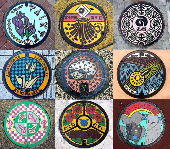 pantherclub:  Amazing Japanese manhole covers, more here