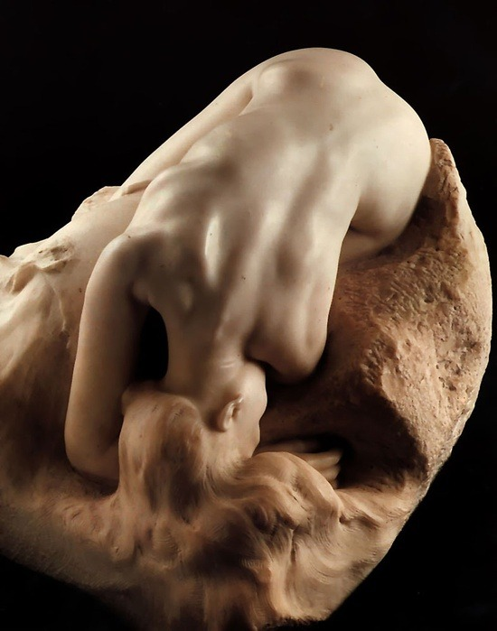 darksilenceinsuburbia:  Auguste Rodin. Danaide.  and here