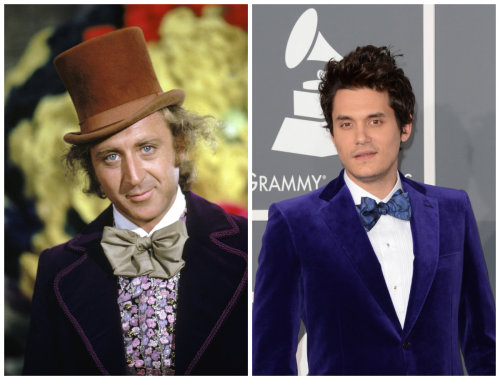 Separated at Birth: John Mayer and Willy Wonka Photos via Getty