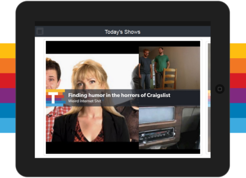 laughingsquid:  Telecast, An Online Video Discovery App for iOS