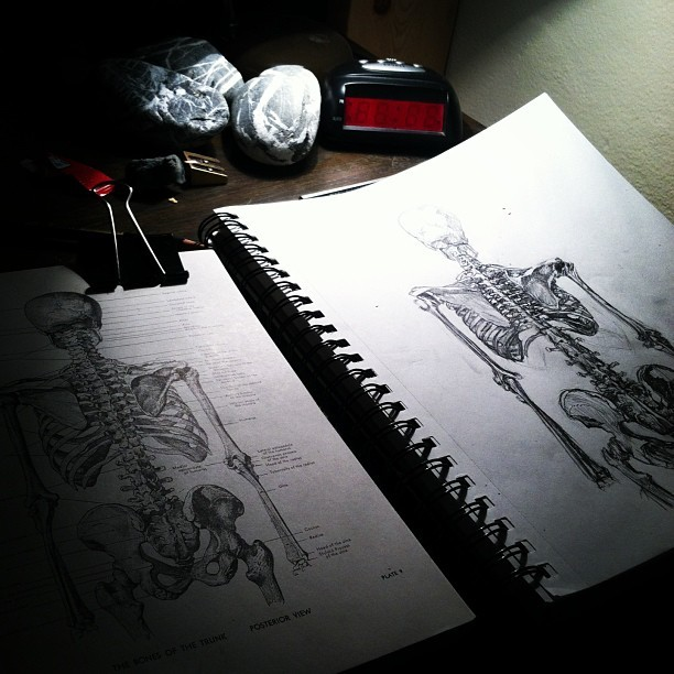 Here's to a night of sketching.