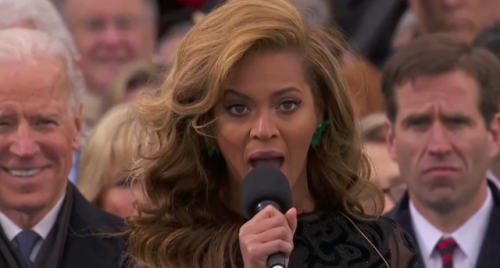 (via Video: Bad Lip Reading Beyonce) The vocal geniuses at Bad Lip Reading have taken on the 2013 Inauguration. at 1:53 in the clip we get their hilarious take on Beyonce's National Anthem performance. WATCH HERE