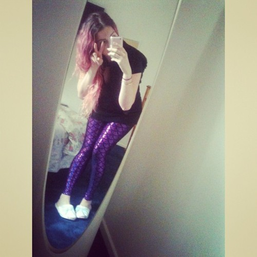 brightest-eyes:  Shiniest legs ever. #blackmilk #blackmilkclothing #bmmermaidpurplelegs #bettinaliano #peteralexander #caniwearmyslippersoutplease #nannalyfe #pinkhair #wiw #whatiwore #ootd #brisbanefashion