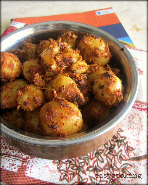 Batate High Jump | Garlic Baby Potatoes in Coconut Masala by Easy Cooking